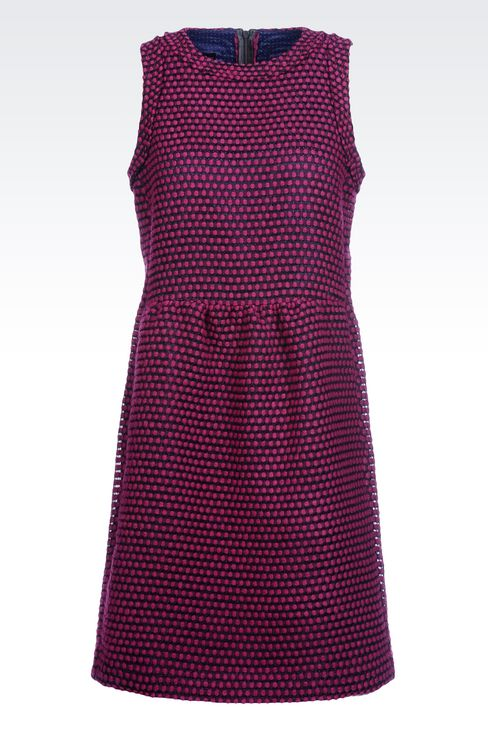 DRESS IN TWO-COLOUR JACQUARD: Short Dresses Women by Armani - 1