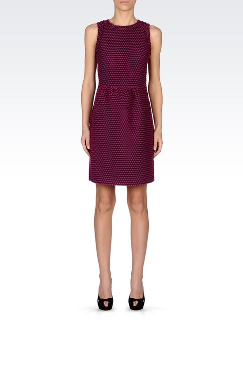 DRESS IN TWO-COLOUR JACQUARD: Short Dresses Women by Armani - 2