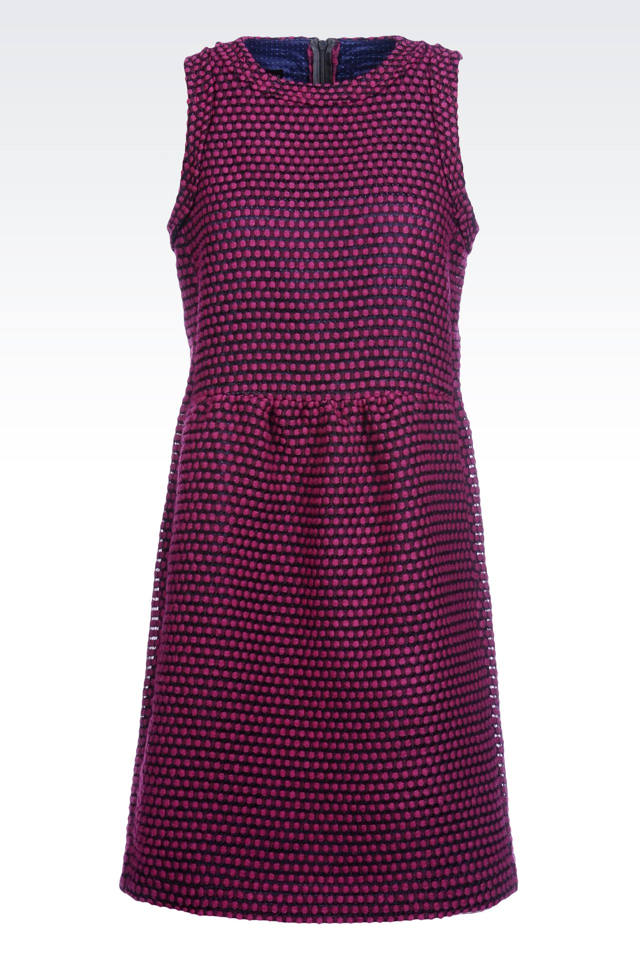 DRESS IN TWO-COLOUR JACQUARD: Short Dresses Women by Armani - 0