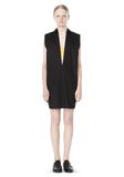 T by ALEXANDER WANG LOW V-NECK COLLARED SLEEVELESS TUNIC Short Dress Adult 8_n_f