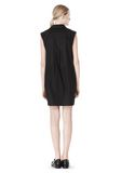 T by ALEXANDER WANG LOW V-NECK COLLARED SLEEVELESS TUNIC Short Dress Adult 8_n_r