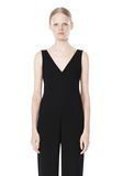 T by ALEXANDER WANG POLY CREPE V-NECK STRAP ROMPER Long dress Adult 8_n_d