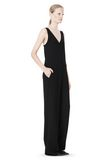 T by ALEXANDER WANG POLY CREPE V-NECK STRAP ROMPER Long dress Adult 8_n_e