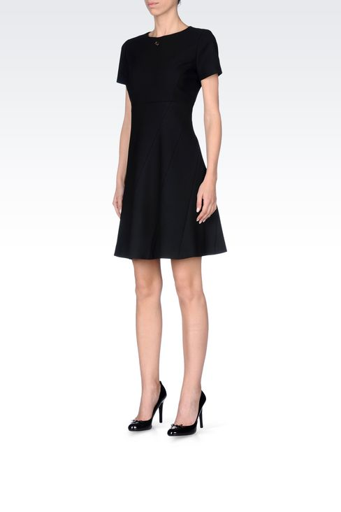 DRESS IN TECHNICAL VISCOSE TWILL: Short Dresses Women by Armani - 3
