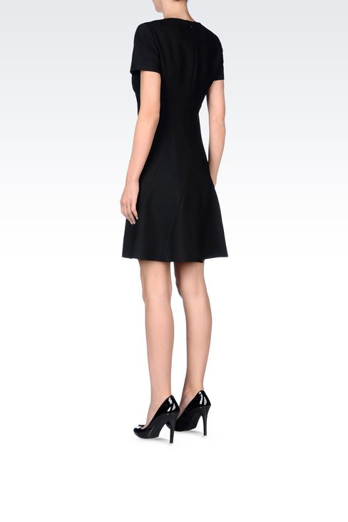 DRESS IN TECHNICAL VISCOSE TWILL: Short Dresses Women by Armani - 4