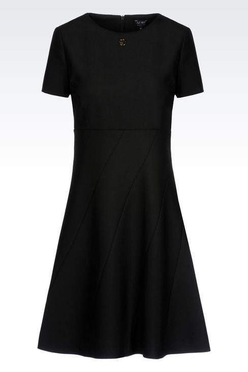 DRESS IN TECHNICAL VISCOSE TWILL: Short Dresses Women by Armani - 1