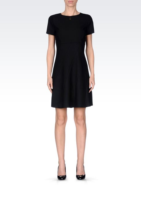 DRESS IN TECHNICAL VISCOSE TWILL: Short Dresses Women by Armani - 2
