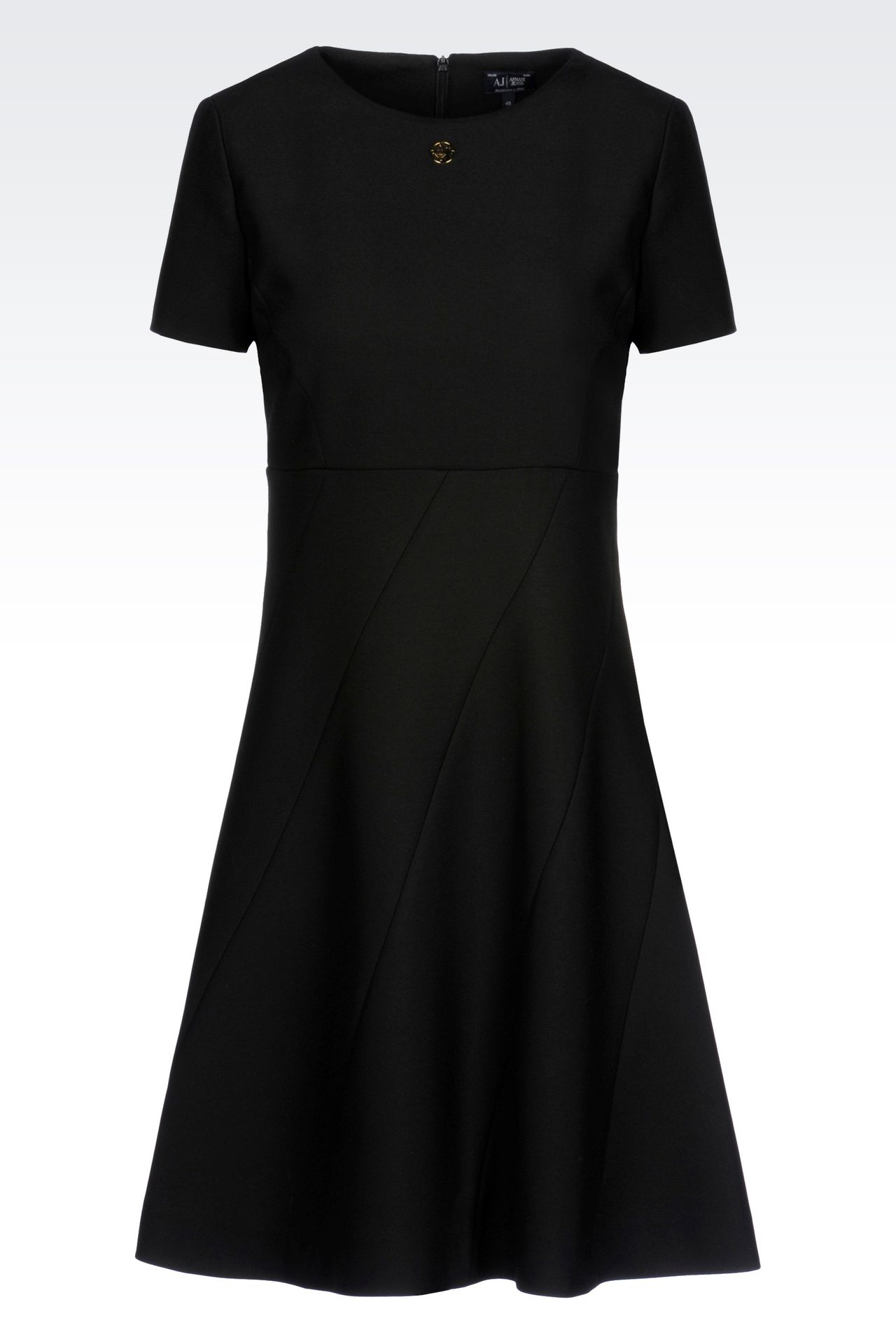 DRESS IN TECHNICAL VISCOSE TWILL: Short Dresses Women by Armani - 0