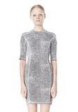 T by ALEXANDER WANG GEORGETTE SHORT SLEEVE SCUBA DRESS Short Dress Adult 8_n_d