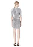 T by ALEXANDER WANG GEORGETTE SHORT SLEEVE SCUBA DRESS Short Dress Adult 8_n_r