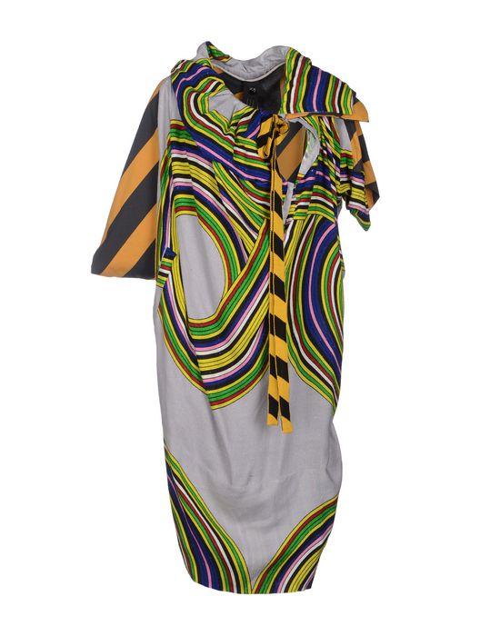 Платье до колена BERNHARD WILLHELM. Цвет: серый