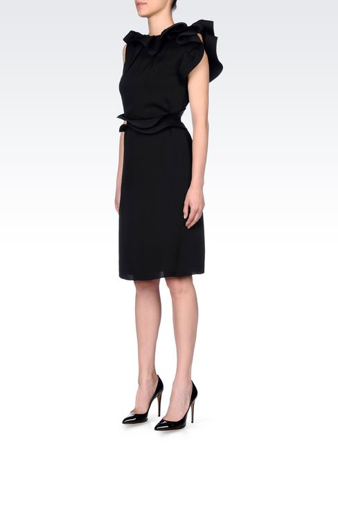 SILK PARTY DRESS: 3/4 Length Dresses Women by Armani - 3