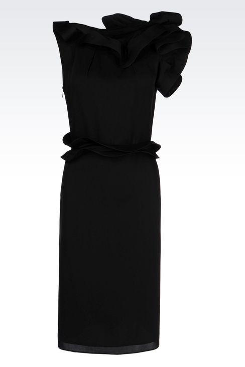 SILK PARTY DRESS: 3/4 Length Dresses Women by Armani - 1
