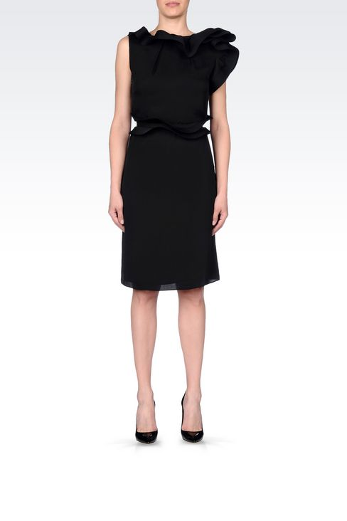 SILK PARTY DRESS: 3/4 Length Dresses Women by Armani - 2