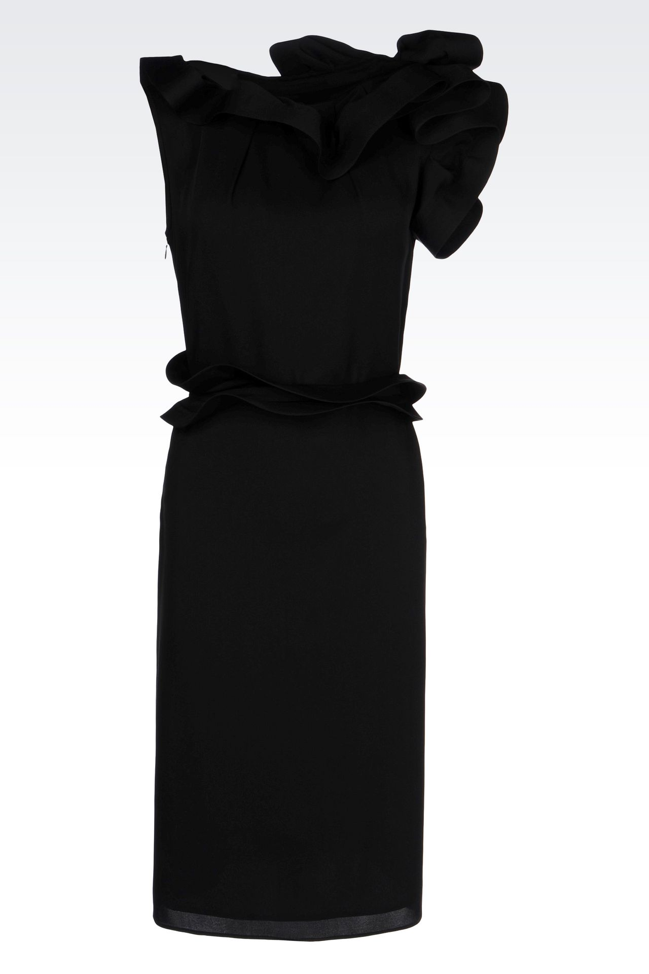 SILK PARTY DRESS: 3/4 Length Dresses Women by Armani - 0