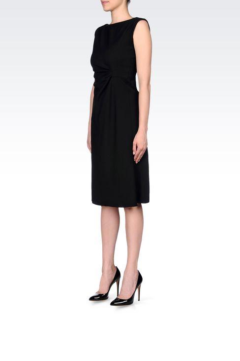DRESS IN STRETCH WOOL: 3/4 Length Dresses Women by Armani - 3