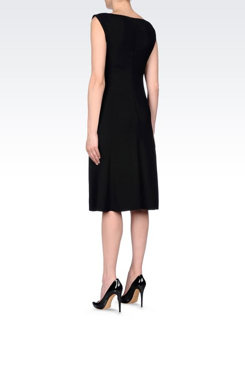 DRESS IN STRETCH WOOL: 3/4 Length Dresses Women by Armani - 4