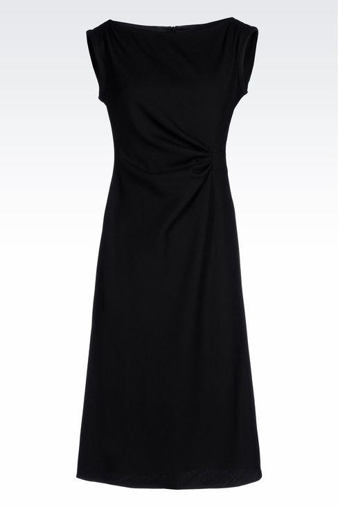 DRESS IN STRETCH WOOL: 3/4 Length Dresses Women by Armani - 1