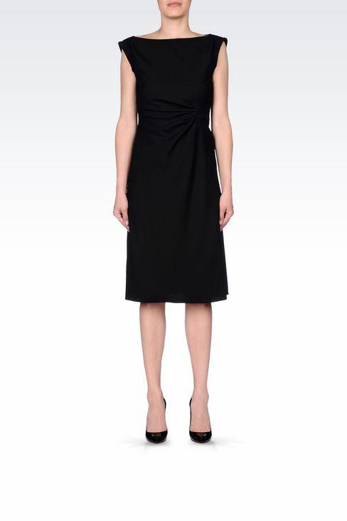 DRESS IN STRETCH WOOL: 3/4 Length Dresses Women by Armani - 2