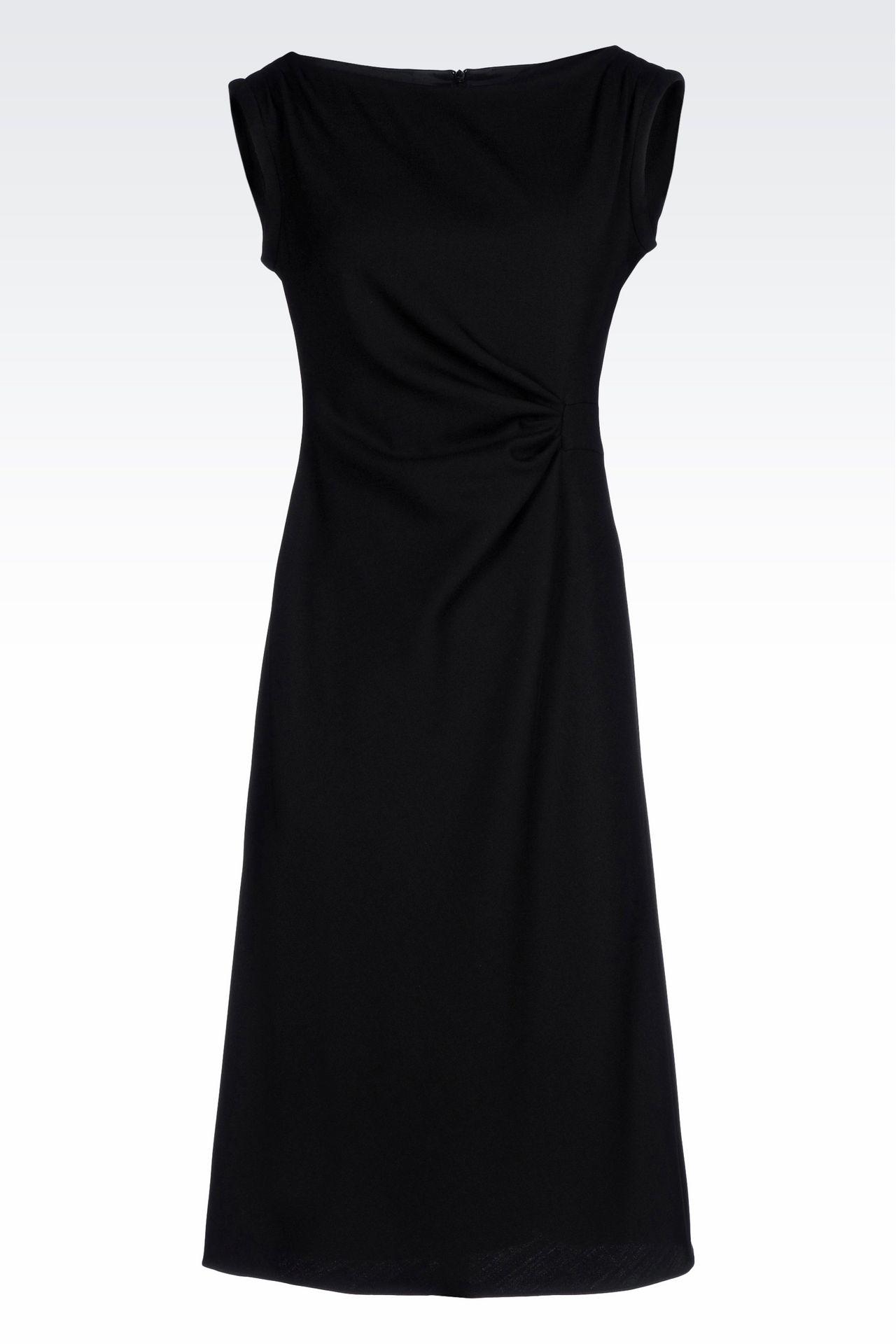 DRESS IN STRETCH WOOL: 3/4 Length Dresses Women by Armani - 0