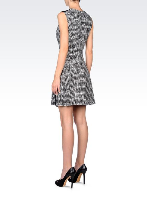 DRESS IN VISCOSE CRÊPE WITH ALL OVER PRINT: Short Dresses Women by Armani - 4
