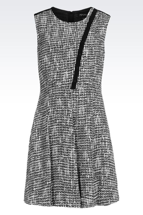 DRESS IN VISCOSE CRÊPE WITH ALL OVER PRINT: Short Dresses Women by Armani - 1