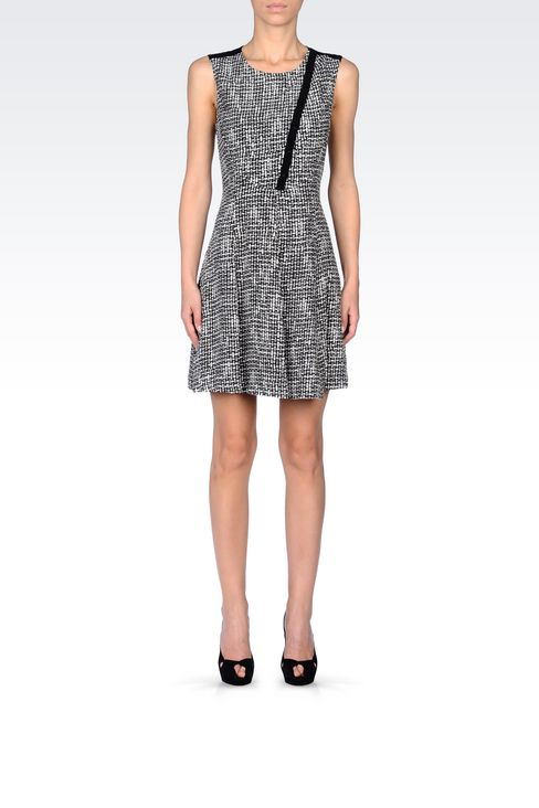 DRESS IN VISCOSE CRÊPE WITH ALL OVER PRINT: Short Dresses Women by Armani - 2