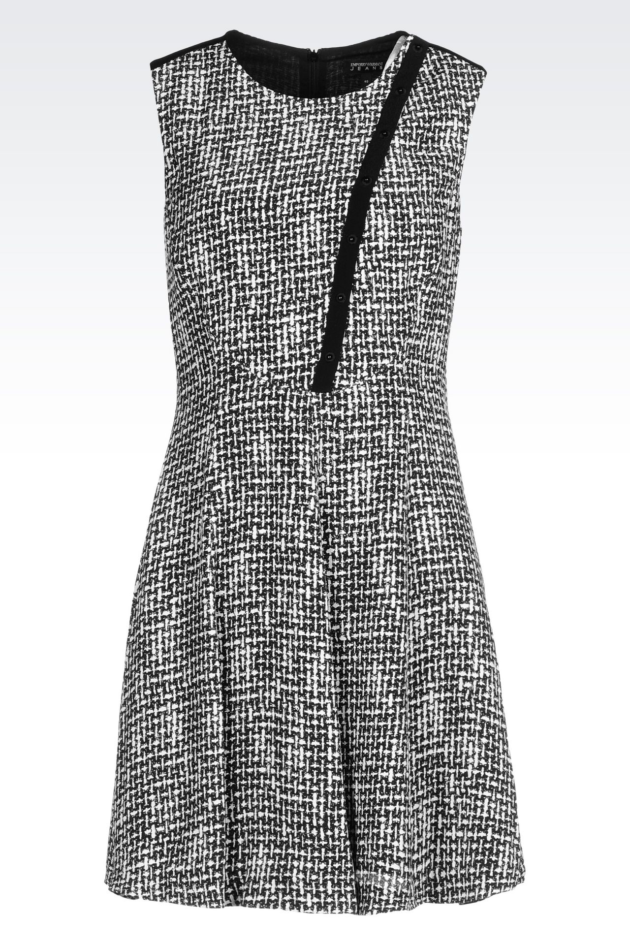 DRESS IN VISCOSE CRÊPE WITH ALL OVER PRINT: Short Dresses Women by Armani - 0