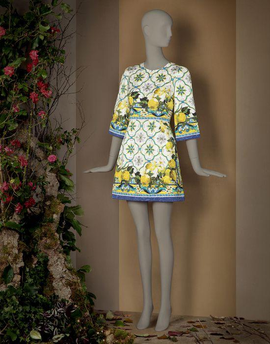 ABITO TUNICA STAMPA LIMONI - Vestiti corti - Dolce&Gabbana - Inverno 2015