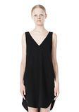 T by ALEXANDER WANG POLY CREPE V-NECK STRAP DRESS Short Dress Adult 8_n_d
