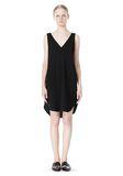 T by ALEXANDER WANG POLY CREPE V-NECK STRAP DRESS Short Dress Adult 8_n_f