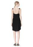 T by ALEXANDER WANG POLY CREPE V-NECK STRAP DRESS Short Dress Adult 8_n_r