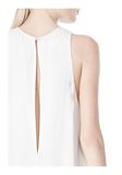 T by ALEXANDER WANG VISCOSE CREPE DRESS WITH LEATHER TRIM Short Dress Adult 8_n_a