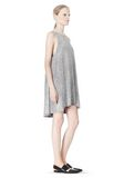 T by ALEXANDER WANG VISCOSE CREPE DRESS WITH LEATHER TRIM Short Dress Adult 8_n_e