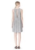 T by ALEXANDER WANG VISCOSE CREPE DRESS WITH LEATHER TRIM Short Dress Adult 8_n_r