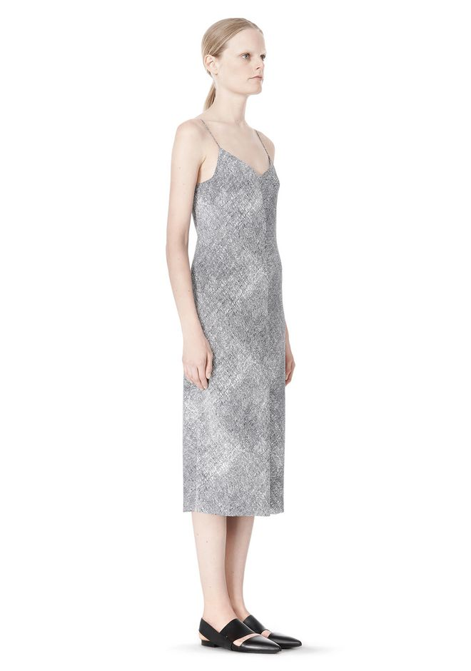T by ALEXANDER WANG GEORGETTE SLIP DRESS 3/4 length dress Adult 12_n_e