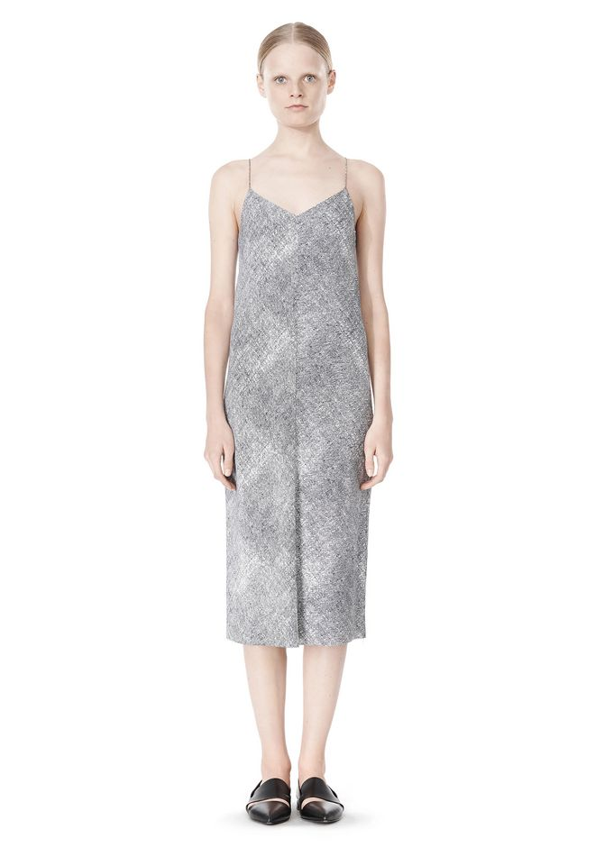 T by ALEXANDER WANG GEORGETTE SLIP DRESS