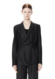 ALEXANDER WANG PINSTRIPE ROBE BLAZER WITH BELT JACKETS AND OUTERWEAR  Adult 8_n_d