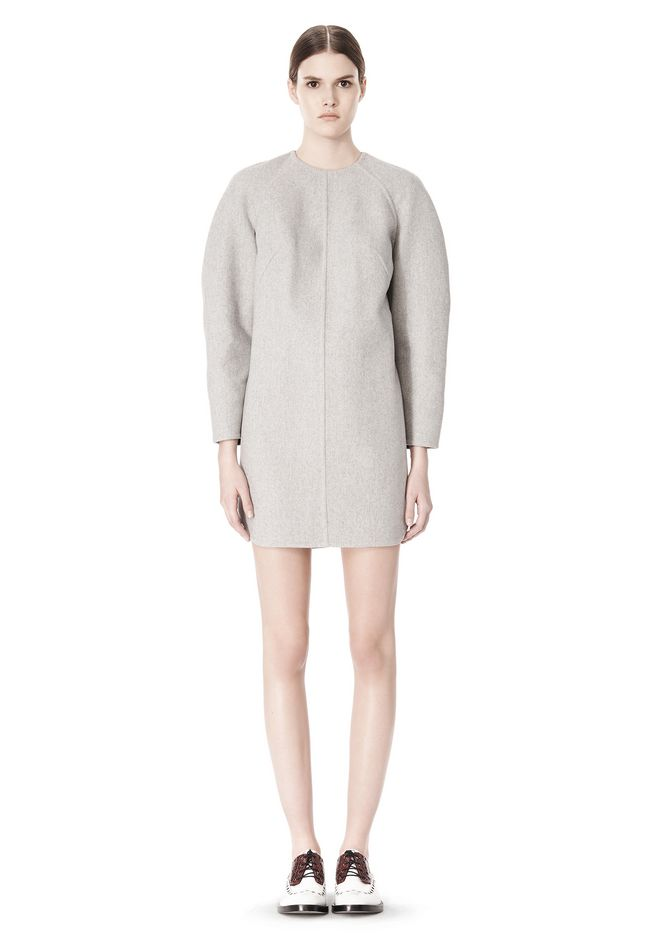 ALEXANDER WANG SWEATSHIRT DRESS WITH SHIRT TAIL HEM 3/4 length dress Adult 12_n_f