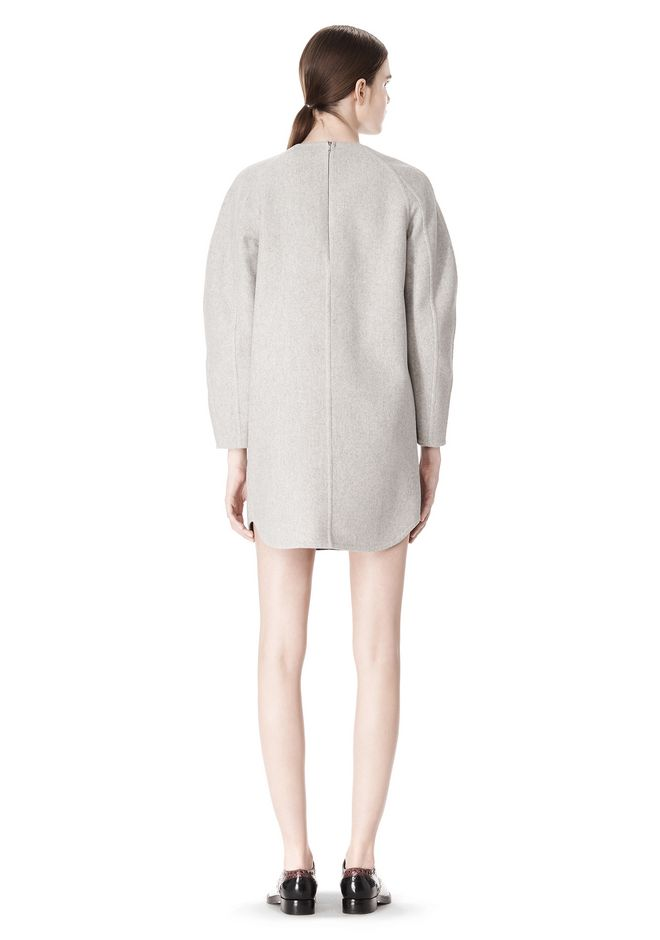 ALEXANDER WANG SWEATSHIRT DRESS WITH SHIRT TAIL HEM 3/4 length dress Adult 12_n_r