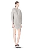 ALEXANDER WANG SWEATSHIRT DRESS WITH SHIRT TAIL HEM 3/4 length dress Adult 8_n_e