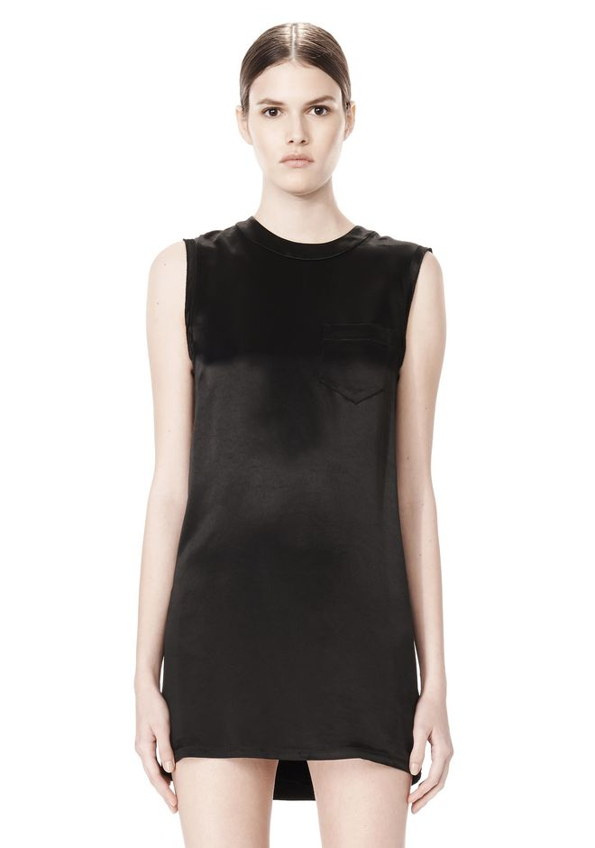 ALEXANDER WANG DRESS WITH EXPOSED DISTRESSED BACK 3/4 length dress Adult 12_n_d