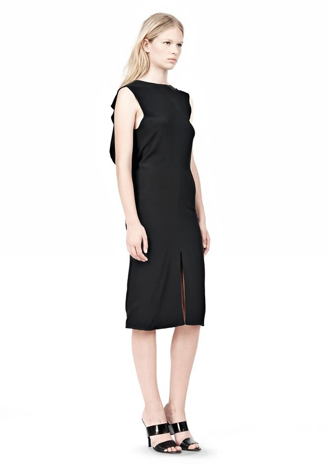 ALEXANDER WANG OPEN FOLDED BACK SLIM DRESS 3/4 length dress Adult 12_n_e