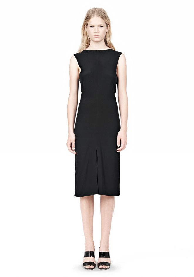 ALEXANDER WANG OPEN FOLDED BACK SLIM DRESS 3/4 length dress Adult 12_n_f
