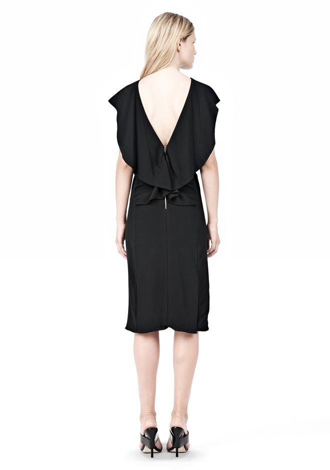 ALEXANDER WANG OPEN FOLDED BACK SLIM DRESS 3/4 length dress Adult 12_n_r