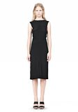ALEXANDER WANG OPEN FOLDED BACK SLIM DRESS 3/4 length dress Adult 8_n_f