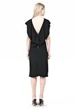 ALEXANDER WANG OPEN FOLDED BACK SLIM DRESS 3/4 length dress Adult 8_n_r