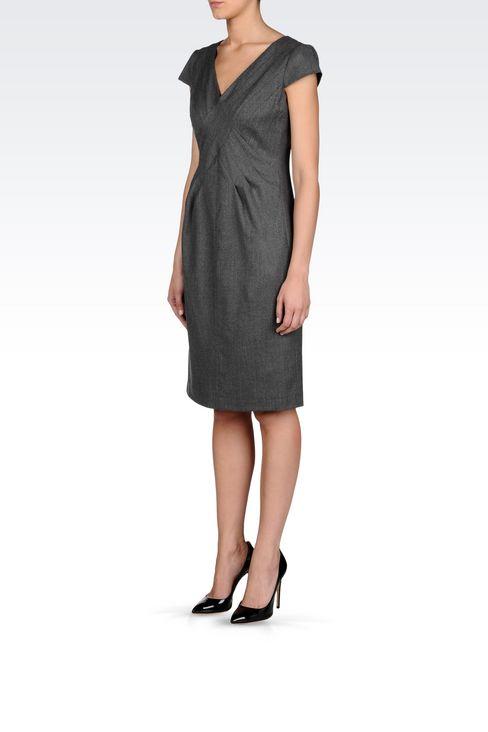 FLANNEL DRESS: 3/4 Length Dresses Women by Armani - 3