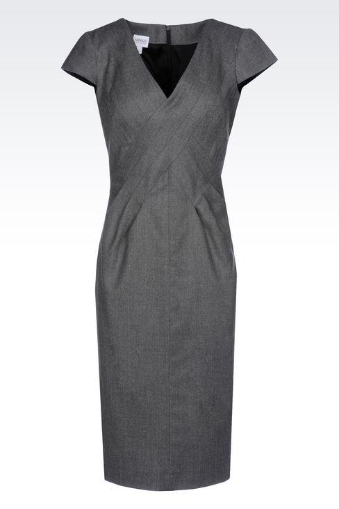 FLANNEL DRESS: 3/4 Length Dresses Women by Armani - 1