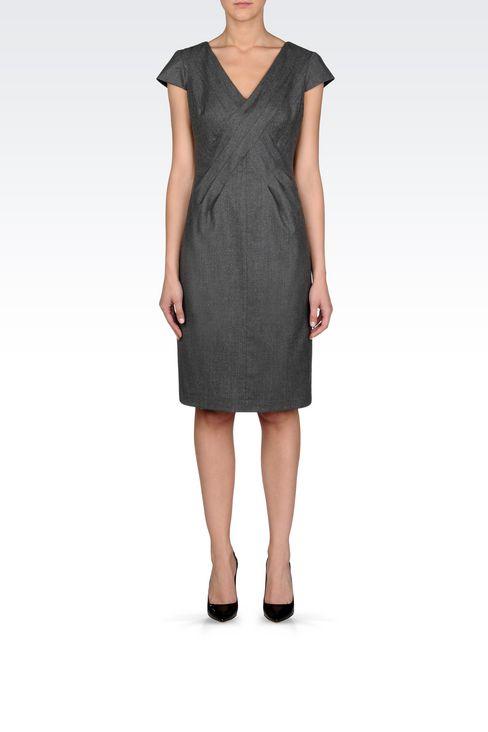 FLANNEL DRESS: 3/4 Length Dresses Women by Armani - 2